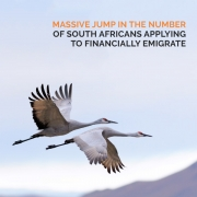 Massive jump in the number of South Africans applying to financially emigrate