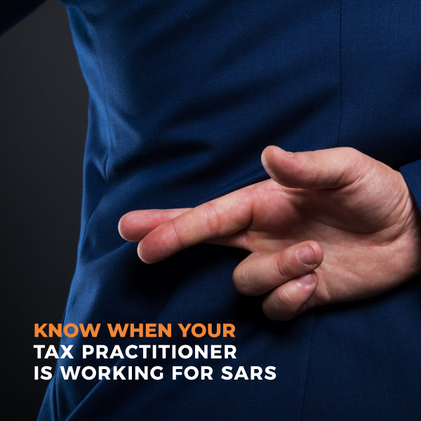 Know when you tax practitioner is working for SARS