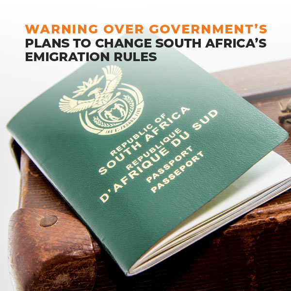 Warning Overe Government's Plan To Change South Africa's Emigration Rules