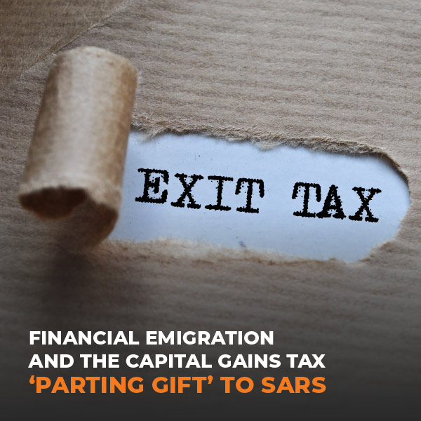 FE and the Capital Gains Tax 'Parting Gift' To SARS